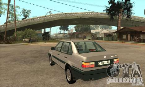 Volkswagen Passat B3 для GTA San Andreas вид сзади слева
