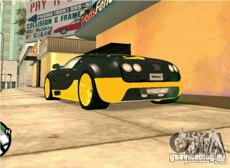 Bugatti Veyron Super Sport final для GTA San Andreas вид справа