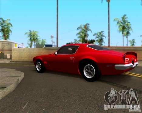 Pontiac Firebird 1970 для GTA San Andreas вид слева
