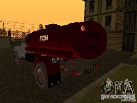 ГАЗ 53 Водовоз для GTA San Andreas вид сзади слева