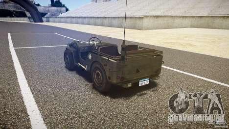 Walter Military (Willys MB 44) v1.0 для GTA 4 вид сзади слева