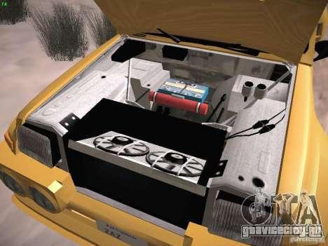 Renault 5 Turbo для GTA San Andreas вид изнутри