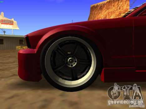 Ford Mustang GT 2005 Tuned для GTA San Andreas вид сзади