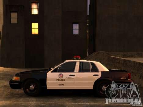 Ford Crown Victoria LAPD v1.1 [ELS] для GTA 4 вид справа