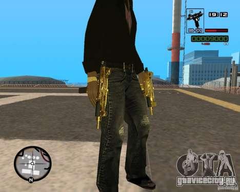 Micro Uzi Gold для GTA San Andreas второй скриншот