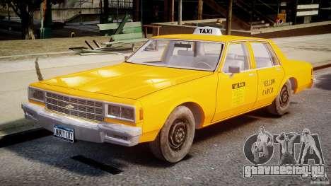 Chevrolet Impala Taxi v2.0 для GTA 4 вид слева