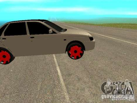 ВАЗ 2170 Приора для GTA San Andreas вид сзади слева