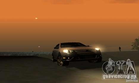 Ford Fusion Sport для GTA San Andreas вид изнутри