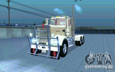 Kenworth W900 Heavy Hauler 1974 для GTA San Andreas вид изнутри