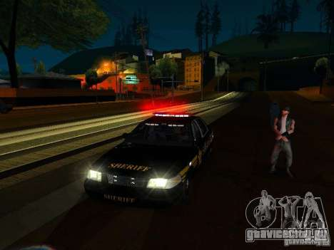 Ford Crown Victoria Erie County Sheriffs Office для GTA San Andreas вид снизу