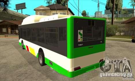 Mercedes Benz MAN Lions City CNG для GTA San Andreas вид сзади слева