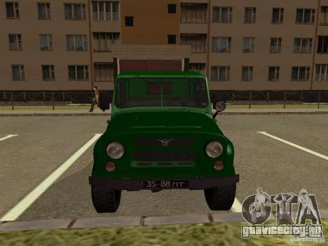 УАЗ 469 Военный для GTA San Andreas вид справа