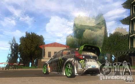 Ford Fiesta Gymkhana для GTA San Andreas вид сзади слева