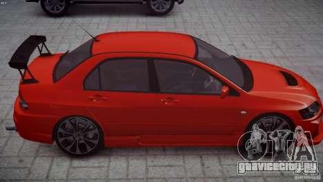 Mitsubishi Lancer Evolution 8 v2.0 для GTA 4 вид сзади