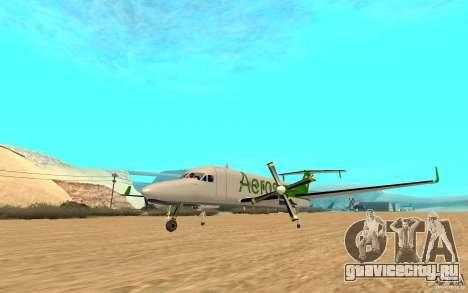 Beechcraft B1900D для GTA San Andreas вид справа