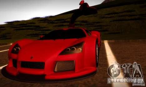 Gumpert Apollо для GTA San Andreas вид сбоку