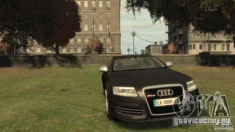 Audi RS6 v.1.1 для GTA 4 вид сзади