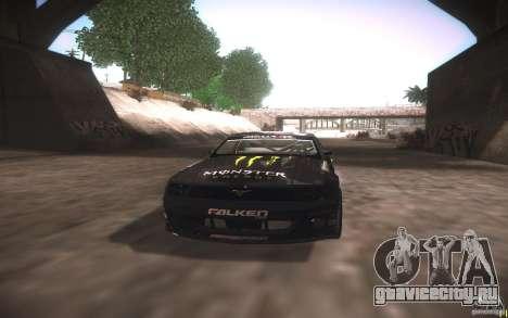 Ford Mustang Monster Energy для GTA San Andreas вид изнутри