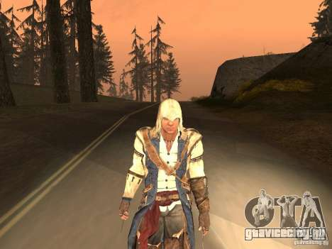 Connor From ACIII для GTA San Andreas шестой скриншот