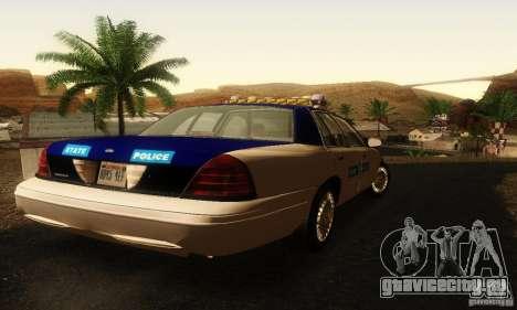 Ford Crown Victoria Virginia Police для GTA San Andreas вид слева