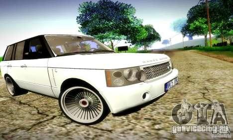 Range Rover Supercharged для GTA San Andreas вид сверху