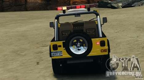 Jeep Wrangler 1988 Beach Patrol v1.1 [ELS] для GTA 4 вид сверху