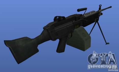 Пулемёт M249SAW для GTA 4 третий скриншот