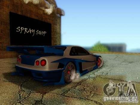 Nissan Skyline GTR34 DTM для GTA San Andreas вид слева