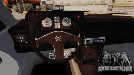 Opel Kadett GL 1.8 1996 для GTA 4 вид изнутри
