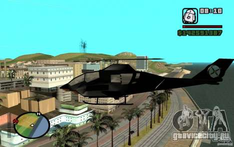 Urban Strike helicopter для GTA San Andreas вид сзади слева