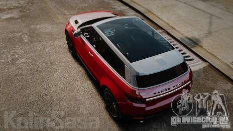 Range Rover Evoque для GTA 4 вид справа