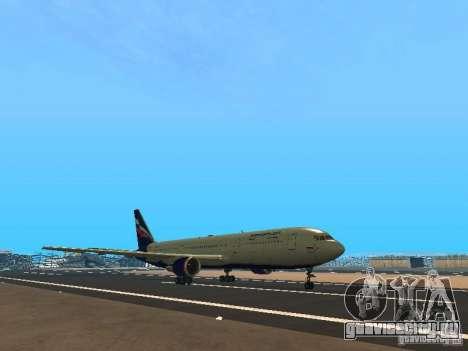 Boeing 767-300 Aeroflot для GTA San Andreas вид слева