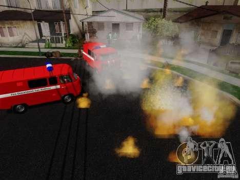 УАЗ-3909 Пожарная служба для GTA San Andreas вид справа