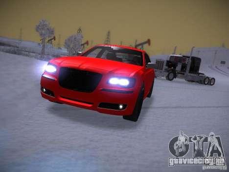 Chrysler 300C SRT8 2011 для GTA San Andreas вид сзади