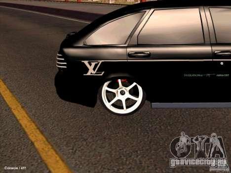 Lada 2170 Priora для GTA San Andreas вид изнутри