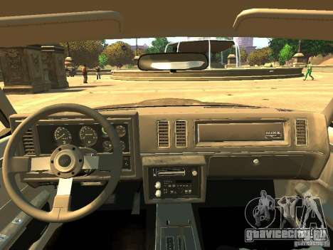 Buick Regal GNX для GTA 4 вид сзади