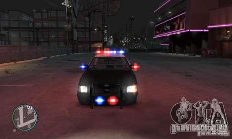 Ford Crown Victoria Police для GTA 4 вид сзади слева