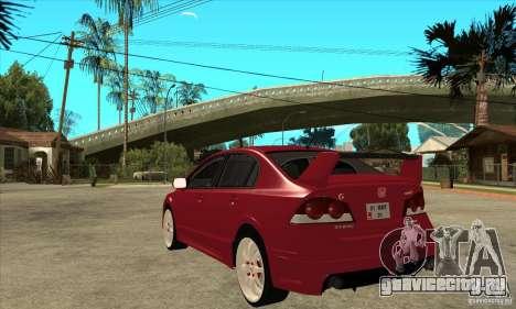 Honda Civic Mugen RR для GTA San Andreas вид сзади слева