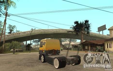 Mercedes Benz Actros Dragster для GTA San Andreas вид сзади слева
