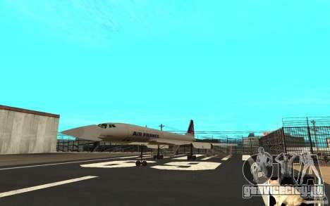 Concorde Air France для GTA San Andreas вид слева