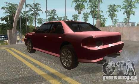 New Sultan HD для GTA San Andreas вид сзади слева