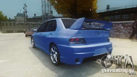 Mitsubishi Lancer Evo 2004 для GTA 4 вид сзади слева