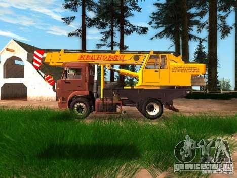 КамАЗ 6520 КС3577-3К Ивановец для GTA San Andreas вид слева
