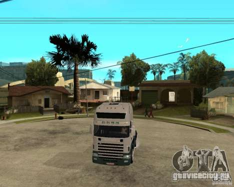 Scania 164L 580 для GTA San Andreas вид сзади