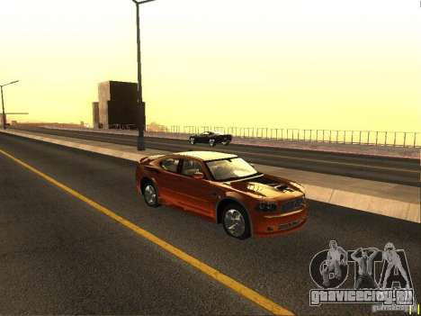 Dodge Charger From NFS CARBON для GTA San Andreas вид сзади слева