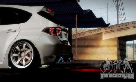 Subaru Impreza WRX Camber для GTA San Andreas салон