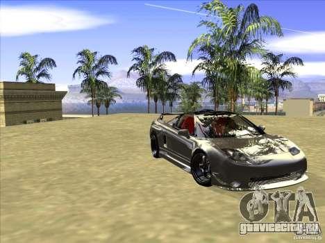Acura NSX Tuned для GTA San Andreas вид изнутри