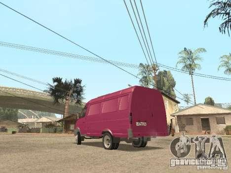 ГАЗель 2705 для GTA San Andreas салон