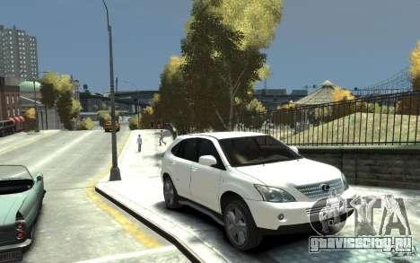 Lexus RX 400h для GTA 4 вид сзади