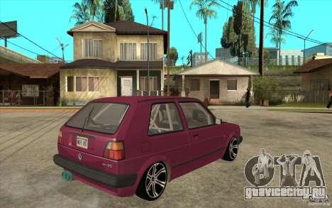 VW Golf 2 GTI для GTA San Andreas вид справа